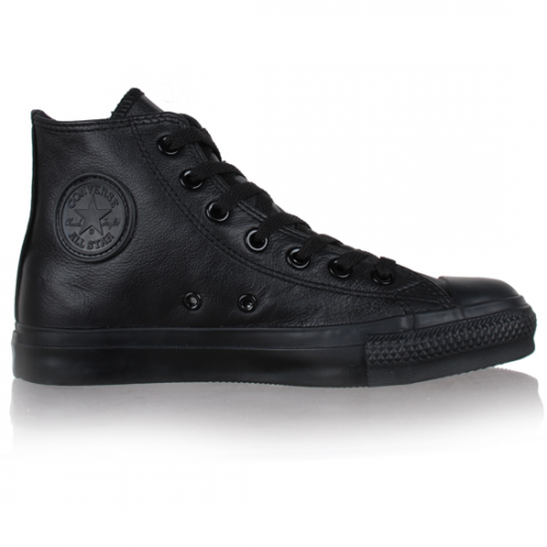 Converse All Star cuir noir monochrome | Converse all star ...