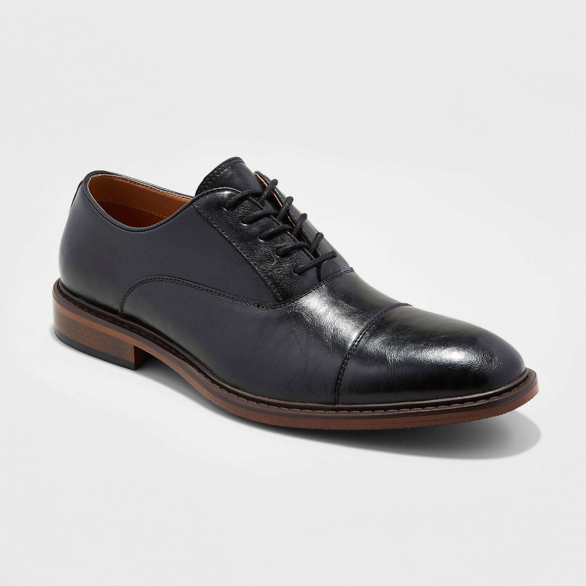 7ea84314044 Men s Joseph Captoe Dress Shoe - Goodfellow   Co Black 10.5 ...