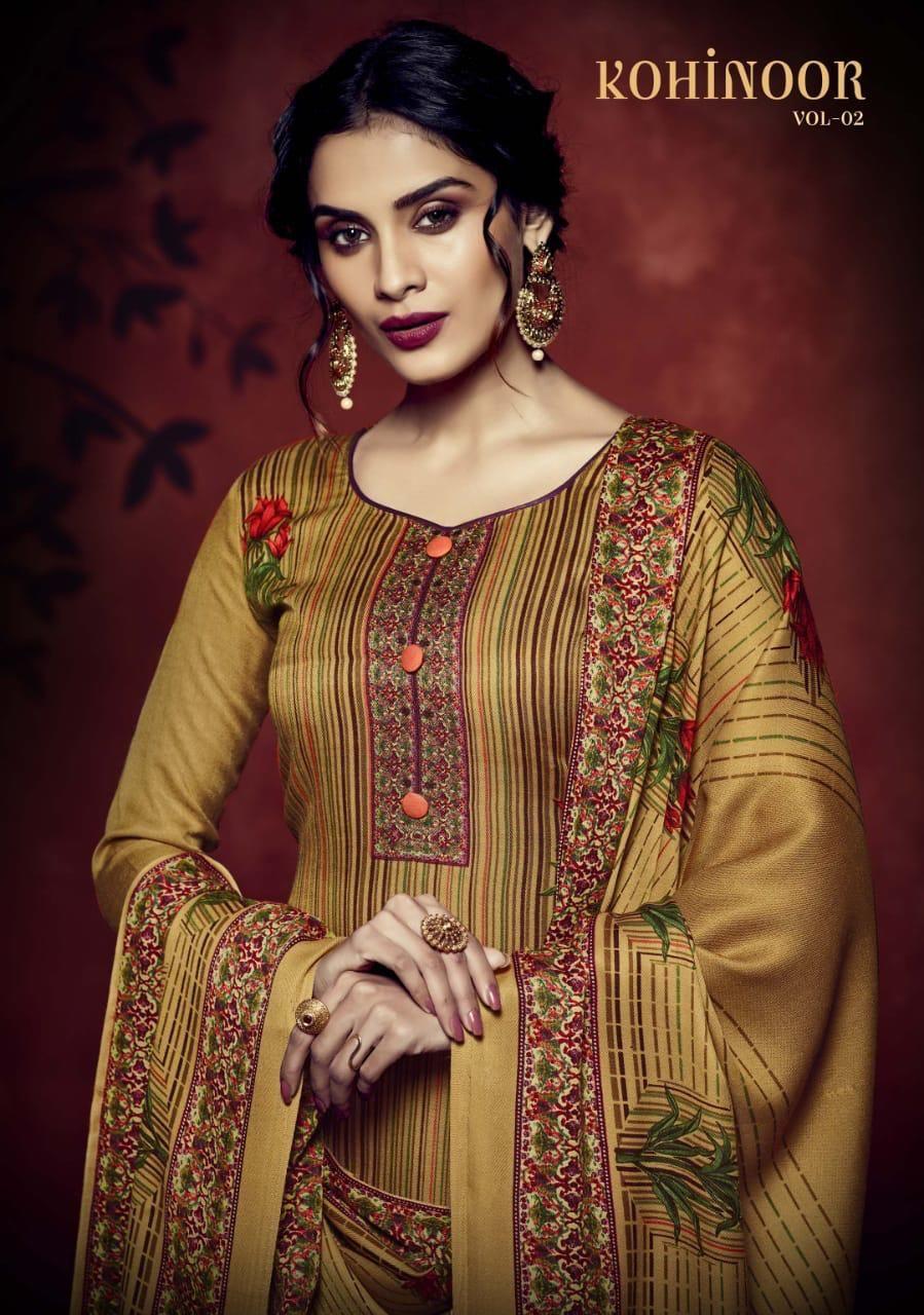 b7bf81fb09 Sargam Prints Kohinoor Vol 2 Printed Pashmina Winter Collection Dress  Material Dealer Surat