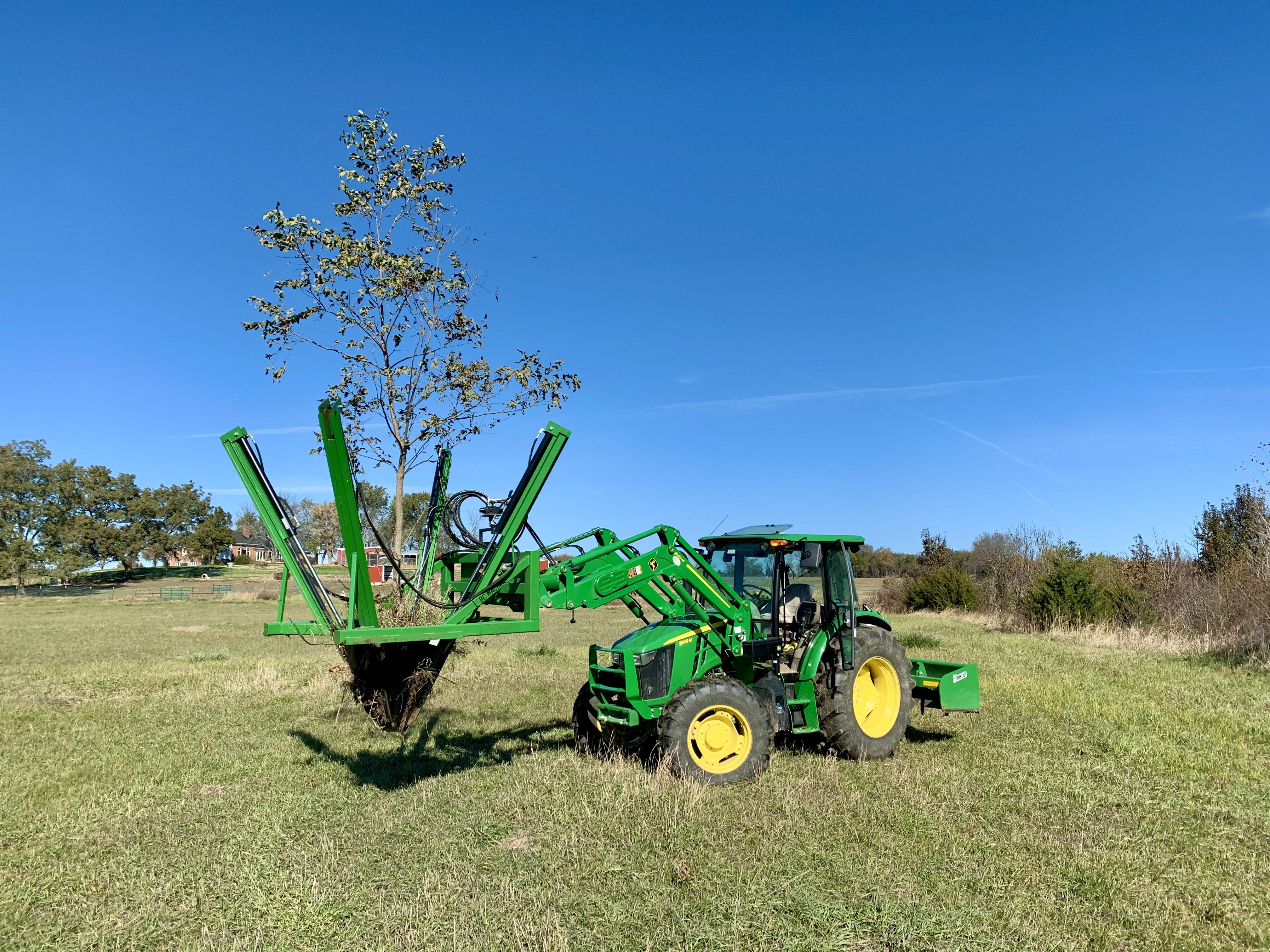 Moved 10 trees with a tree speed rented on the