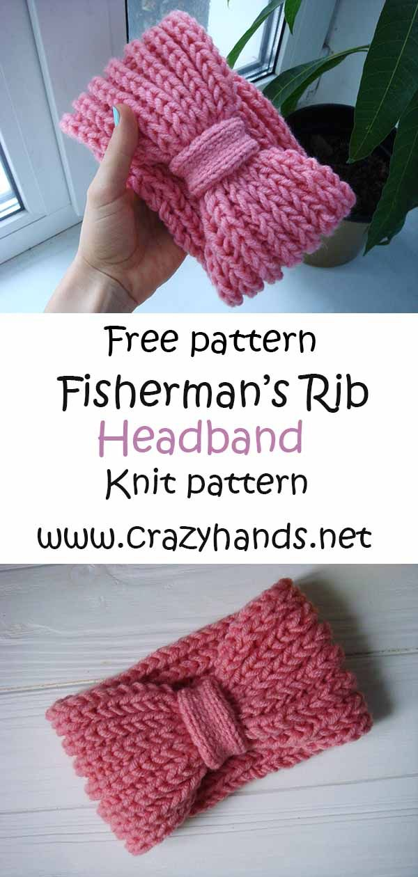 Photo of Pink Rose Fisherman's Rib Headband