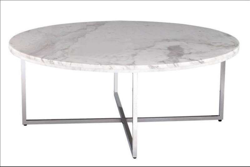 Faux White Marble Coffee Table