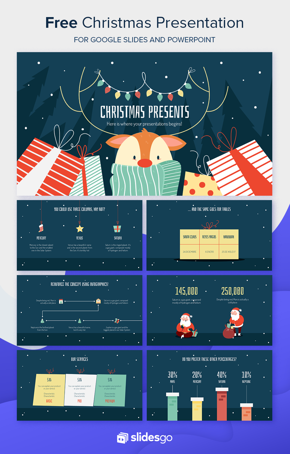 Christmas Presents Presentation Free Google Slides theme
