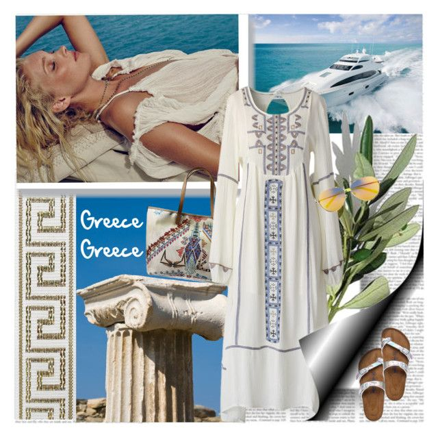 """""""Greece Greece"""" by stylepersonal ❤ liked on Polyvore"""