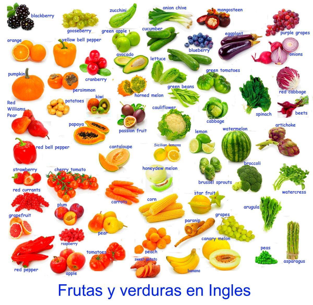 Frutas Y Verduras En Ingles Para Imprimir English Vocabulary Learn English Learn English Vocabulary