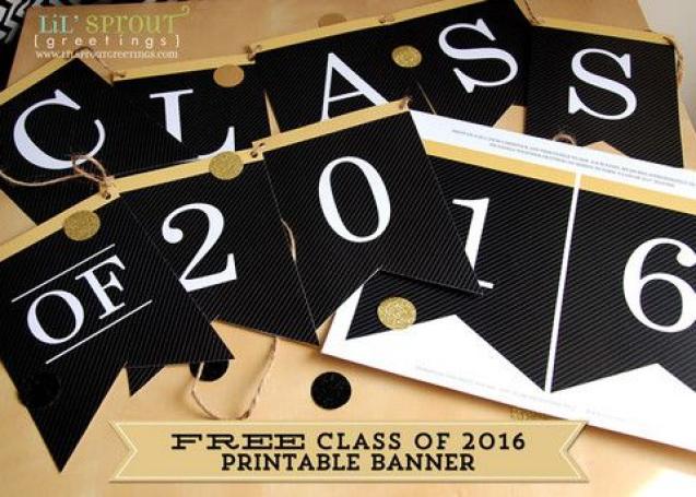 Free Class Of 2016 Printable Graduation Banner Graduationday Graduation Day Banner Graduation Banner Graduation Printables Free Class