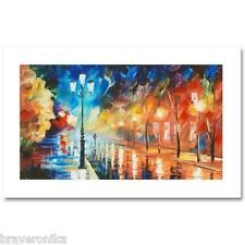 """LEONID AFREMOV """"SOLITARY STROLL""""  EXTREMELY LIMIT EDITION 6/25 HAND/EMB GICLEE"""