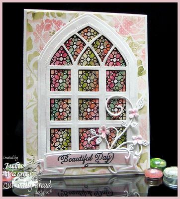 Stamps - Our Daily Bread Designs Cathedral Window - Marble,Sentiments Collection, ODBD Custom Cathedral Window and Border Dies