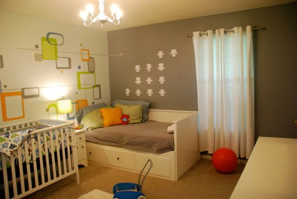 Ikea Shelves Hemnes Daybed In A Boys Bedroom: Nursery With Ikea Hemnes Day Bed