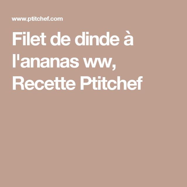 Filet de dinde à l'ananas ww, Recette Ptitchef