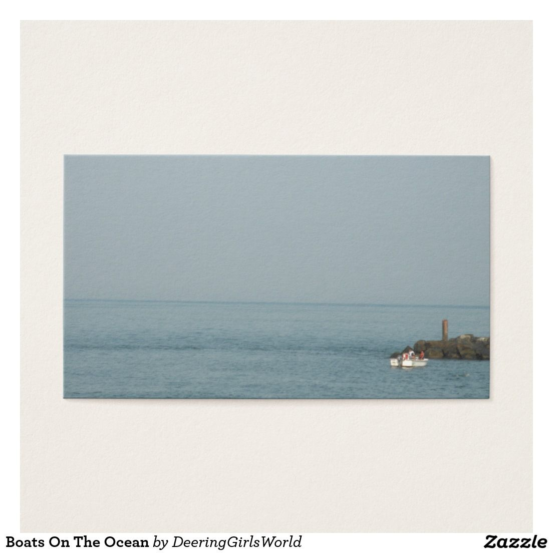 Boats On The Ocean Business Card Boating Gifts Cards Visit