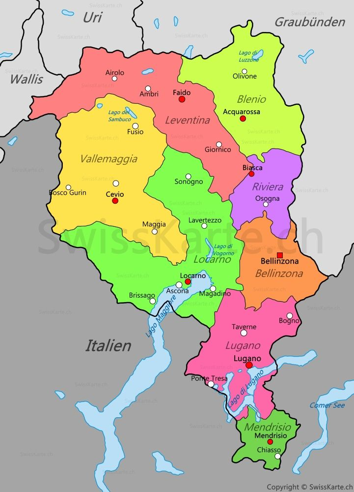 Karte Kanton Tessin Kartographie Pinterest Switzerland