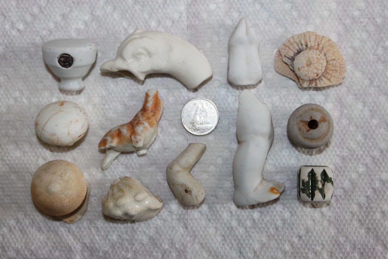 BEACH GLASS Pottery Pieces A hodgepodge of unique Pottery piece