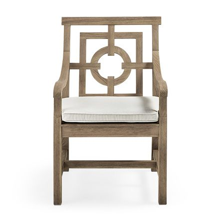 Hamptons Outdoor 24 Teak Dining Arm Chair