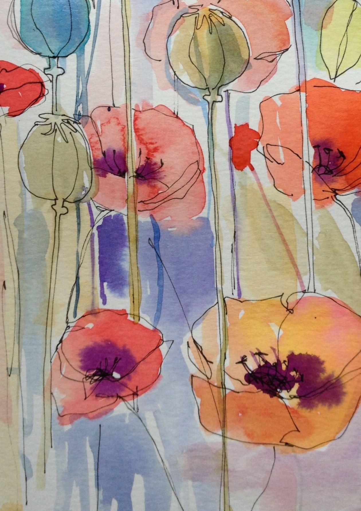 poppies mohnblume pinterest mohnblume malerei und malen. Black Bedroom Furniture Sets. Home Design Ideas