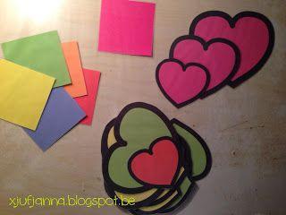 Sorteerspel hartjes (op kleur / grootte)