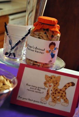 This Game Cute Food Ideas Too Diegos Animal Rescue Center A Very Easy And Fun For Kids Adults At Dora Birthday Party