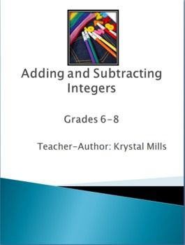 Adding and Subtracting Integers Games, Activities, Worksheets and ...