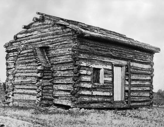 Abraham Lincoln Log Cabin  Abraham Lincoln was born in a