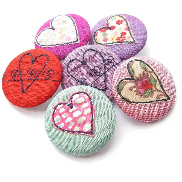 Sumptuosity Heart Appliqué Embroidered Silk Pin Badge ($7.28) ❤ liked on Polyvore featuring jewelry, brooches, embroidery jewelry, vintage broach, heart shaped jewelry, heart brooch and silk jewelry