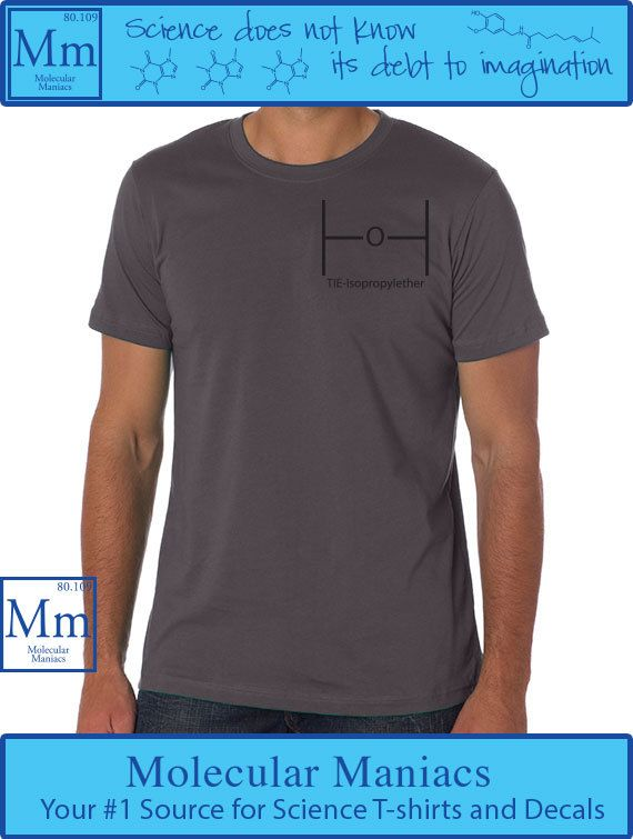 TIEIsopropylether Upper Left Corner Shirt by MolecularManiacs, $18.00// #nerdfashion #chemistry #scienceshirts