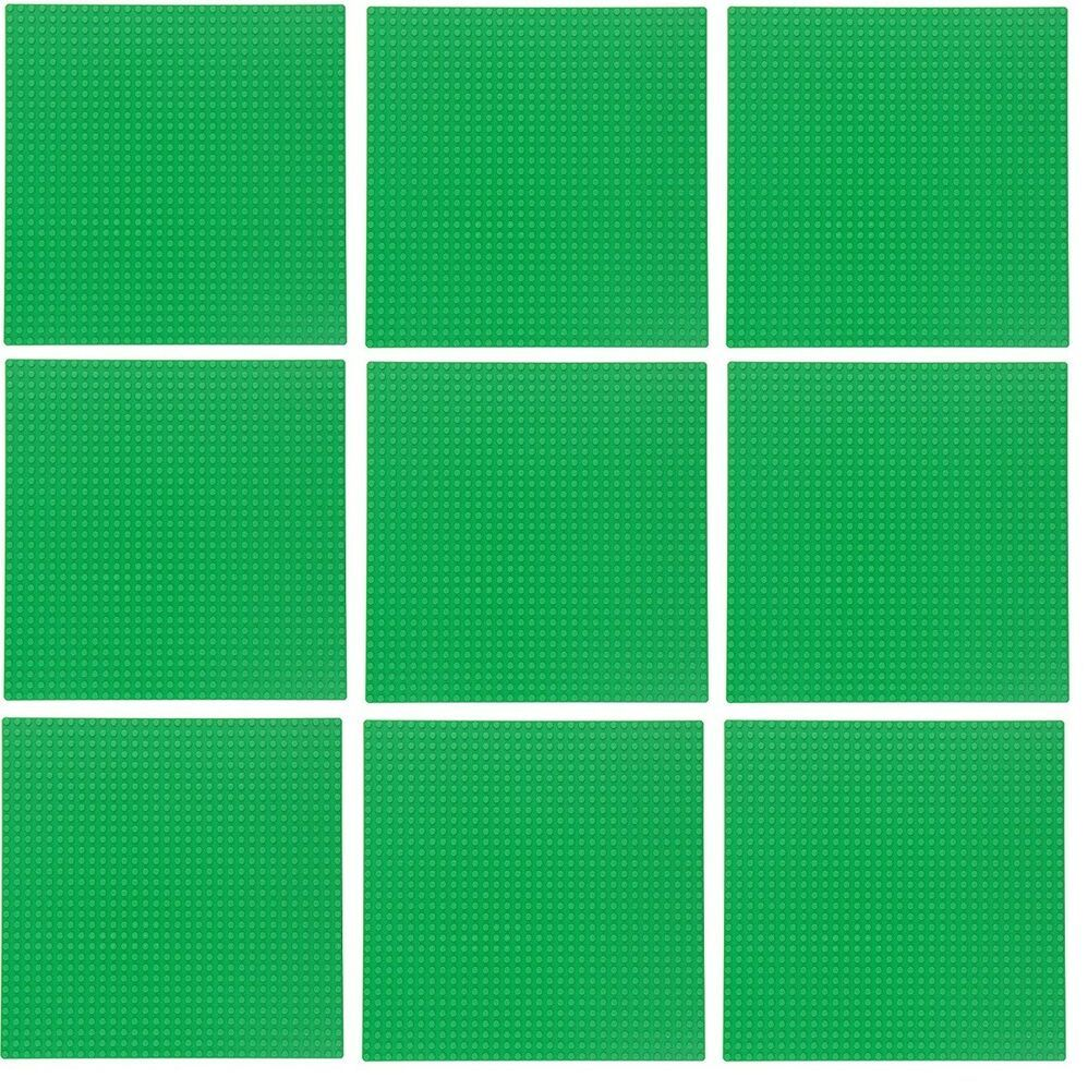 """Authentic LEGO 32x32 green base plate 10/"""" x 10/"""""""