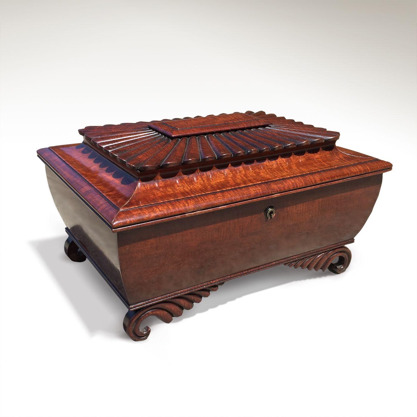A Very Fine Irish Regency Mahogany Box with Fitted