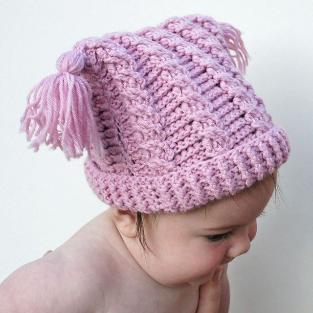 Baby Cables Hat pattern by Kim Miller