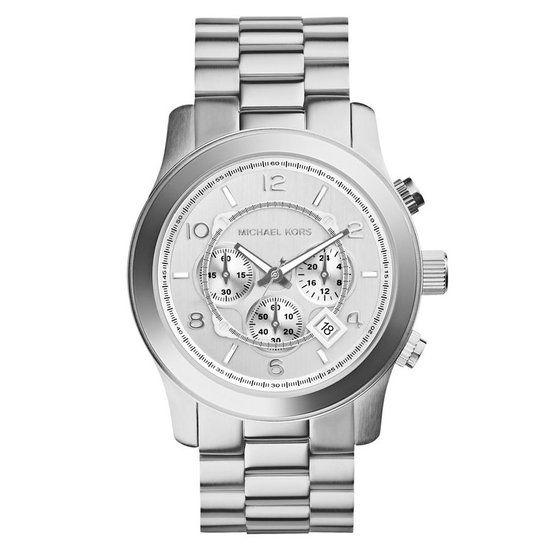 Michael Kors MK8086 - Horloge - 45 mm - Zilverkleurig