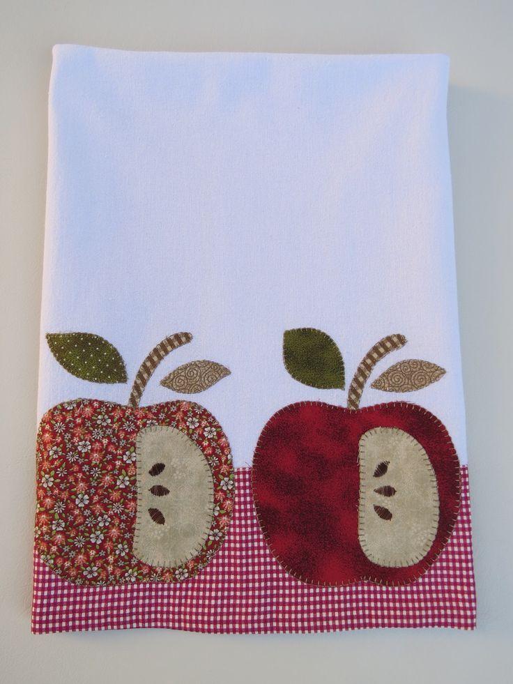 Resultado de imagen de manteles de apliques de patchwork - Apliques de cocina ...