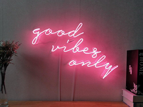 Good Vibes Only Neon Sign For Living Room Bedroom Home Decor Personalised Handmade Artwork Dimmable Neon Sign Bedroom Neon Signs Neon Signs Home
