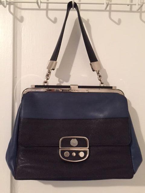 0a7a6fa0d54d5 Jason Wu Blue   Black Leather Miss Wu Tote Handbag  JasonWu  TotesShoppers