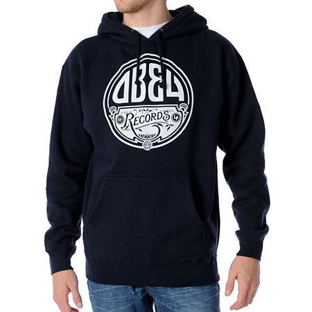74a976a0 Type Treatment Design : Obey Gold Label LP Blue #Pullover #Hoodie ...