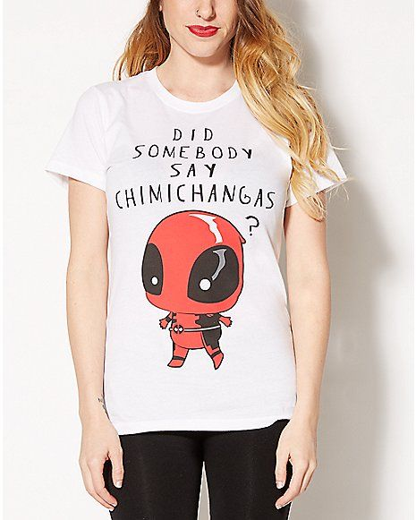 20850c822f9a8c Chimichanga Deadpool Tee