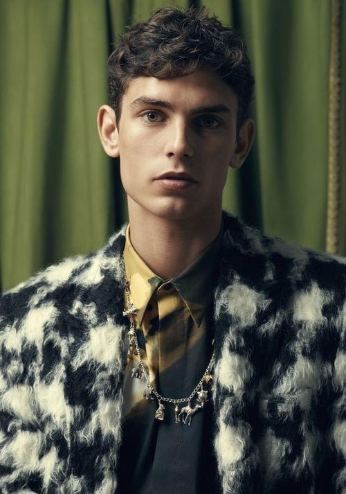 homme—models:  Arthur Gosse by Nicolas Valois - Men's Uno, FW 2014
