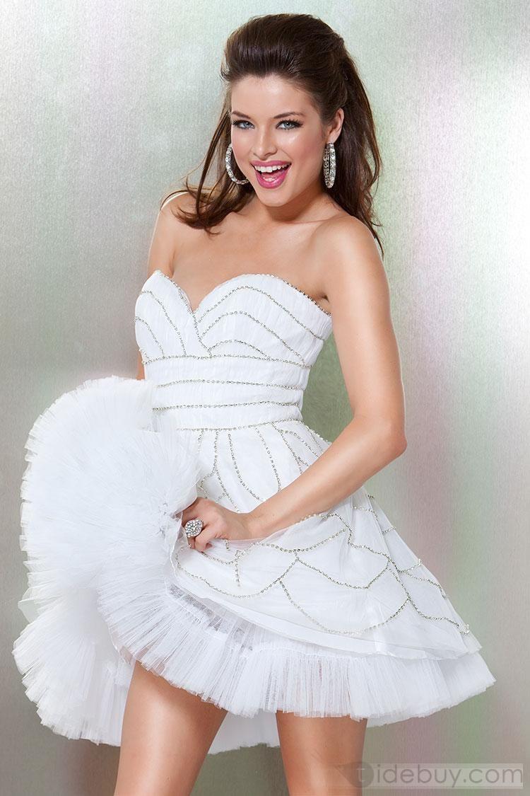 Lovely Beading Short/Mini Length Dress