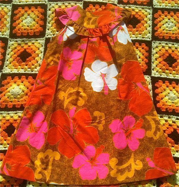 Hawaiian Maxi Dress 2T by lishyloo on Etsy, $15.00