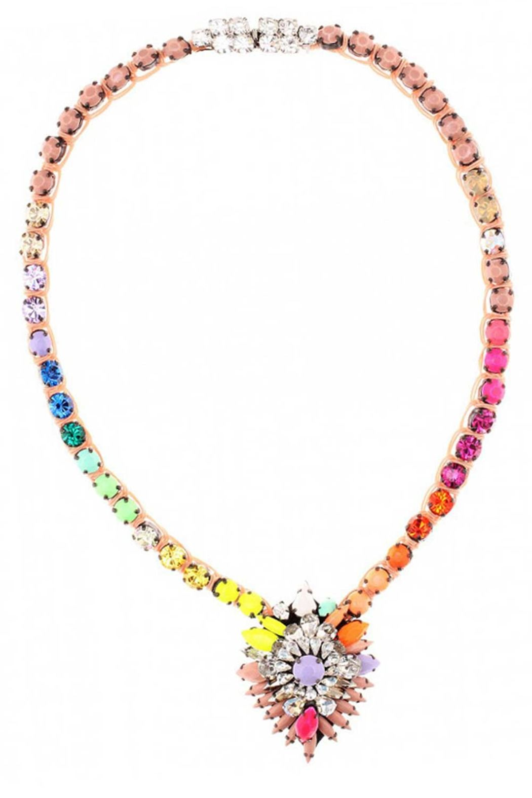 shourouk in image shou rainbow of product apolonia necklace fwrd