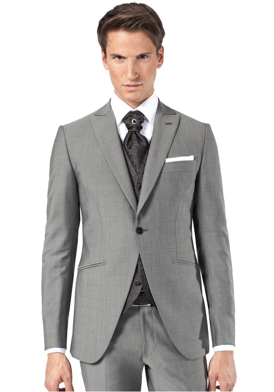 Connu Costume gris mariage | Costume de marié gris avec gilet pour homme  FM88
