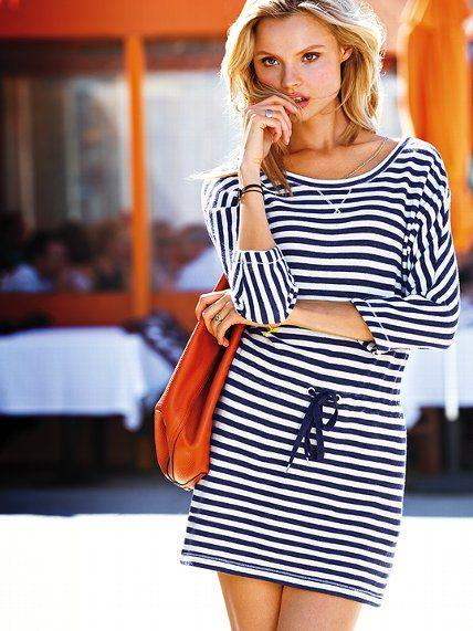 Платье в полоску French Terry Pullover Victoria s Secret ― Интернет-магазин  одежды от мировых брендов 1516e4e553d