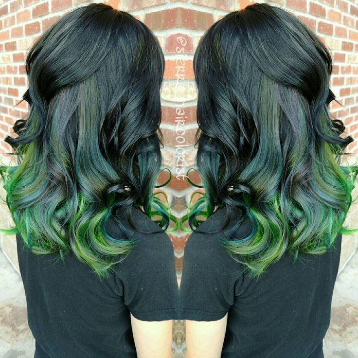 black emerald and neon green
