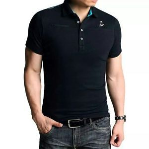 MENS SHORT SLEEVE PIQUE CASUAL POLO T-SHIRT 100% COTTON ALL SIZES ...
