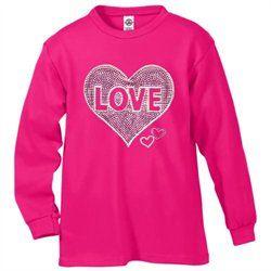 #Cherry Bargains          #ApparelTops              #Kids #Shirt #Long #Sleeve #Love #Heart #Rhinestone                           Kids Shirt Long Sleeve Love Heart Rhinestone Tee                              http://www.seapai.com/product.aspx?PID=7941326