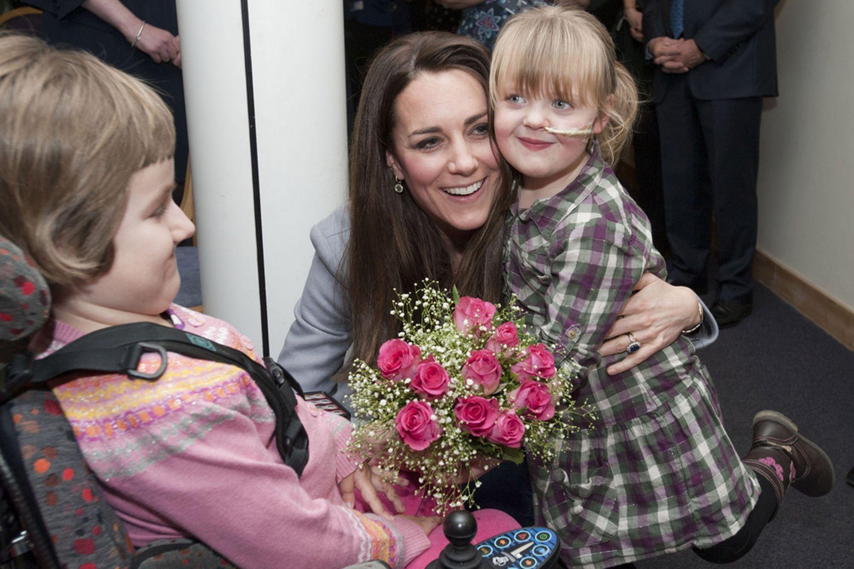 Kate Middleton meets very sick children