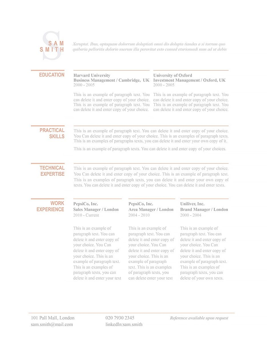 Resume Template Professional Resume Template And Create