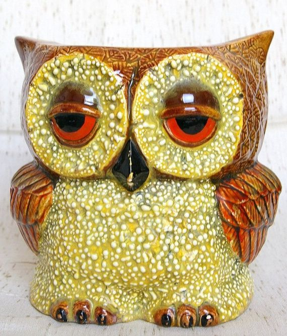 Vintage Owl Planter Owls Of Course Pinterest Vintage Owl