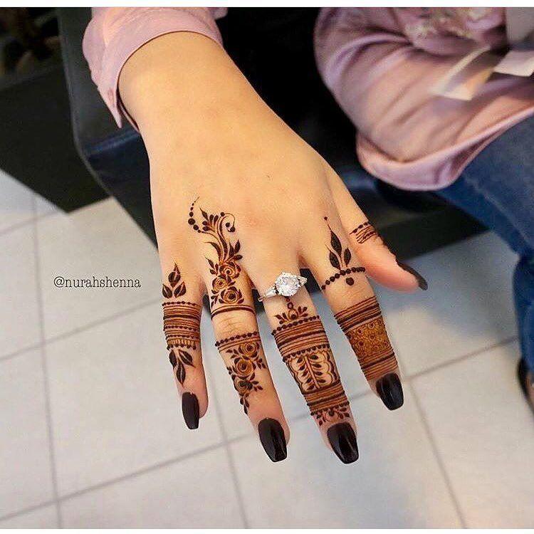 صور نقش الحناء Mehndi Designs For Fingers Mehndi Designs For Hands Finger Mehndi Style