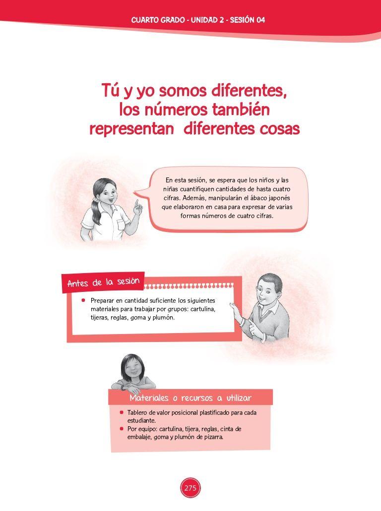 """Teresa Clotilde Ojeda Sánchez: Sesión de Aprendizaje 04  de Unidad Didáctica 02 del Área de Matemática – Cuarto grado de Primaria 2015:  """"Tú y yo somos difere…"""