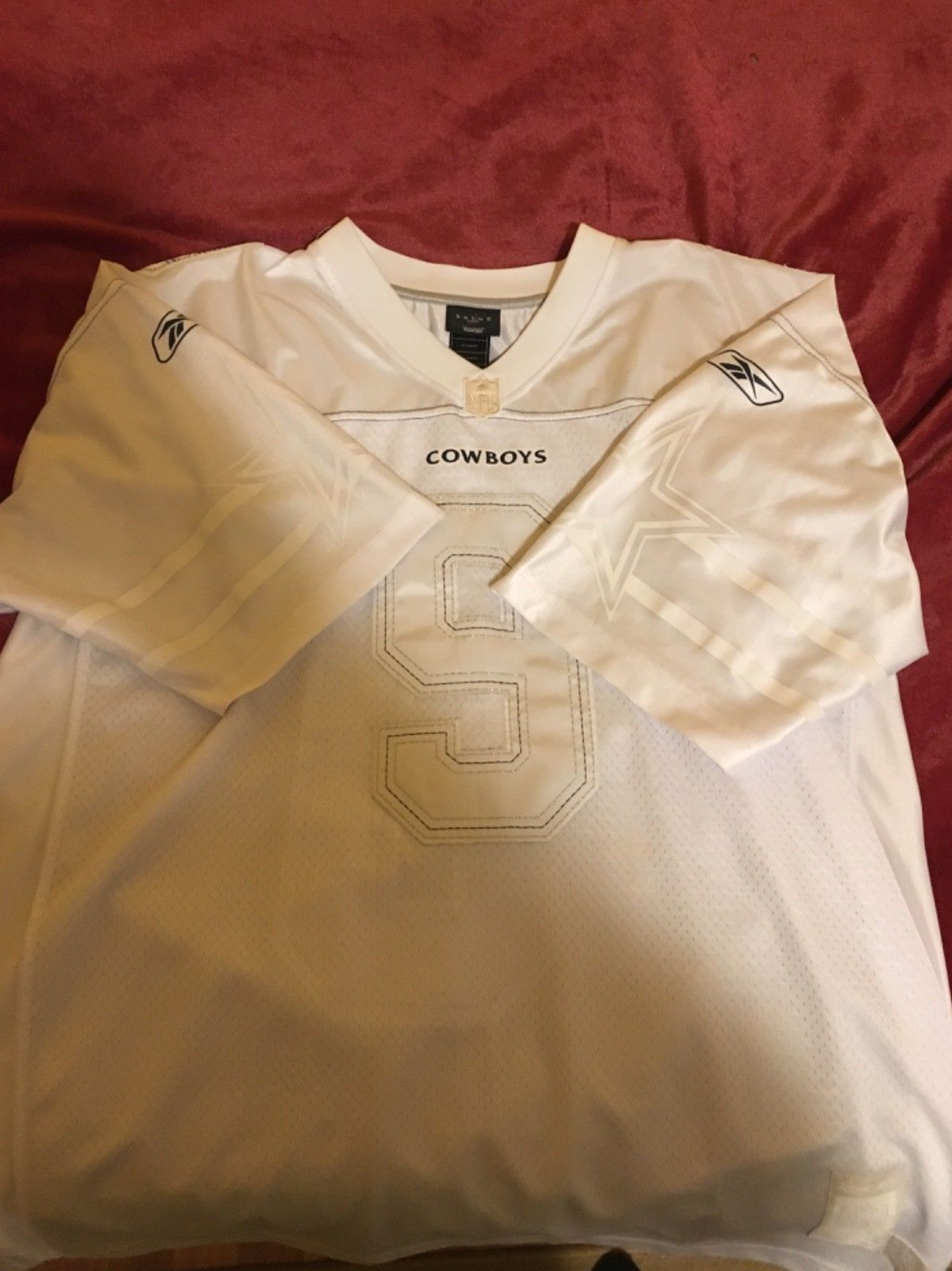 wholesale dealer 8f731 bb2a6 Dallas Cowboys #9 Tony Romo Reebok Shine Jersey All-White XL ...