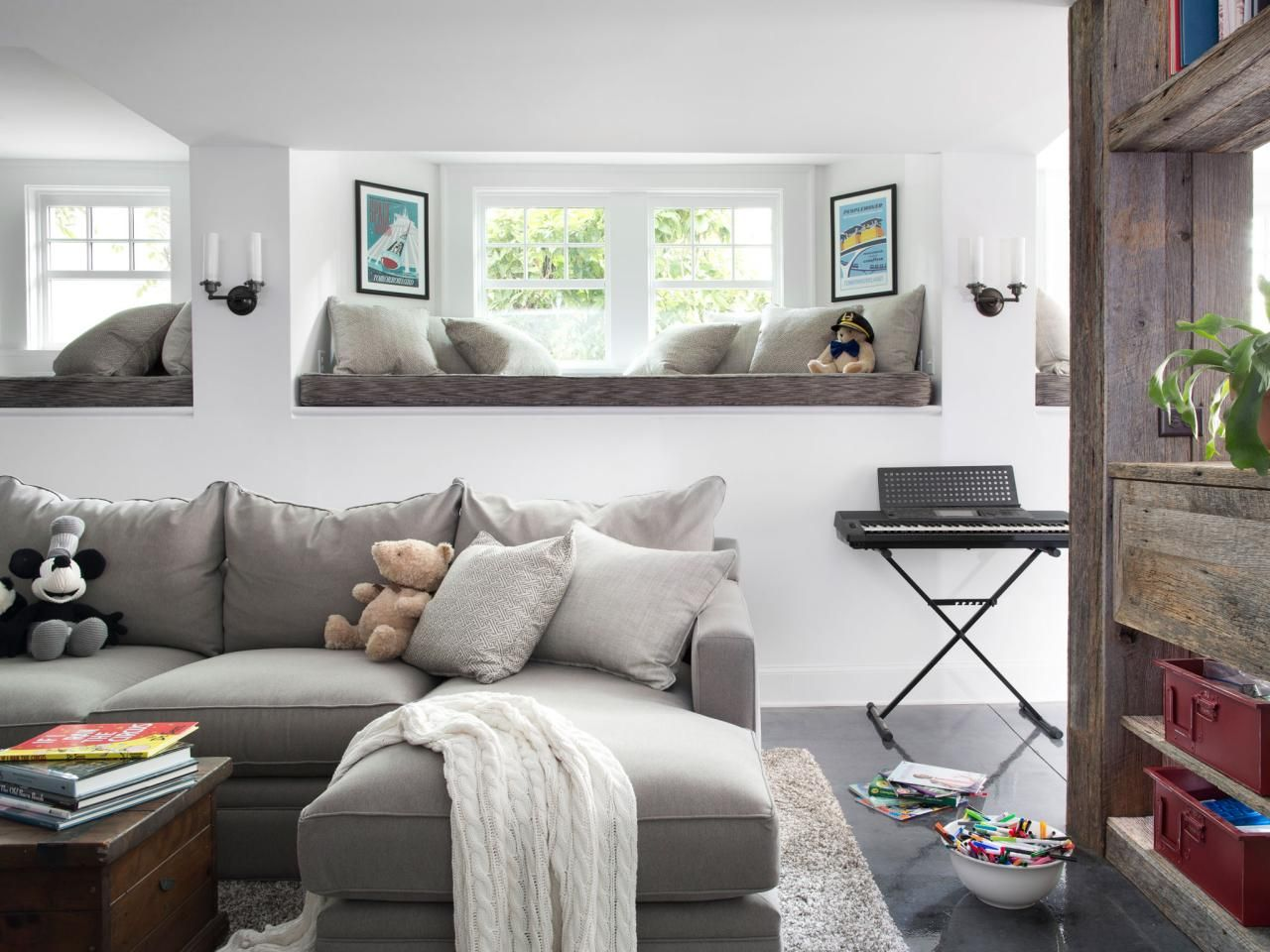 ideas for making your basement color feel light and bright